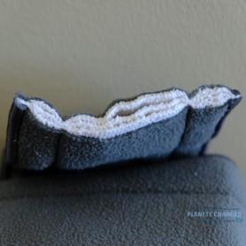détails 5 épaisseurs insert bambou charbon microfibre pour couche lavable bébé junior TE1 ou TE2