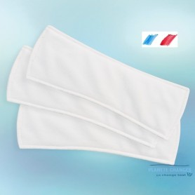 lot of 3 light bamboo intraversable incontinence pads for women made in France