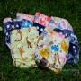 coloris assortis couches lavables TE1 à poche new-born / nouveau-né avec insert microfibre