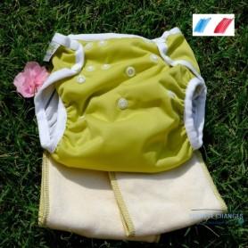 organic evolutive TE1 washable diaper Oeko Tex certified made in France