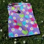 sac à masques sales lavables étanches imprimé cœurs et fleurs
